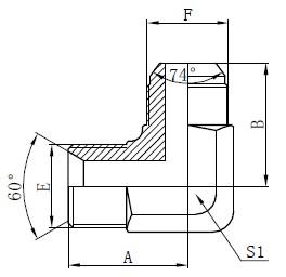 बीएसपी हाइड्रोलिक एडेप्टर आरेखण